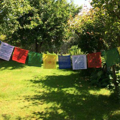 Spiral Crystals - Tibetan Prayer Flags (medium)