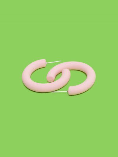 pendientes aro soft rosa palo