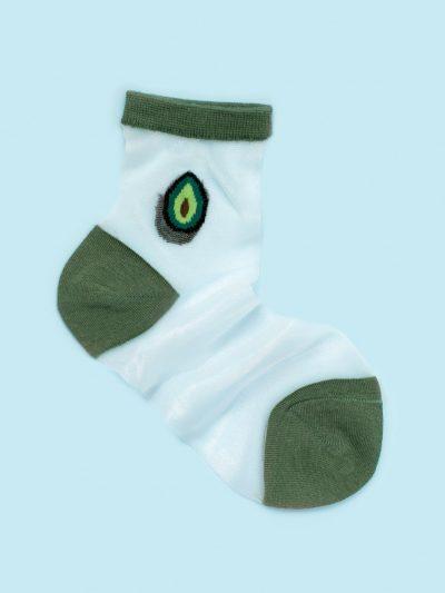 calcetines de malla silky avocado