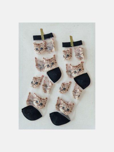 calcetines malla kitten negro