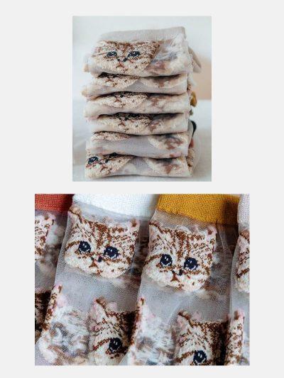 calcetines malla kitten detalle