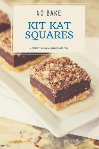 No Bake Kit Kat Squares with this kit kat bars recipe | A Baker's House