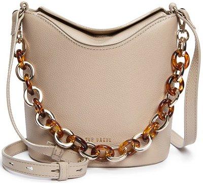 Ted Baker London Brookk leather bucket bag | 40plusstyle.com