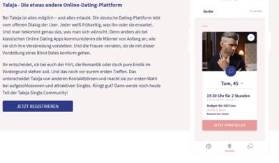 Die deutsche Dating-Plattform lebt vom offenen Dialog der User