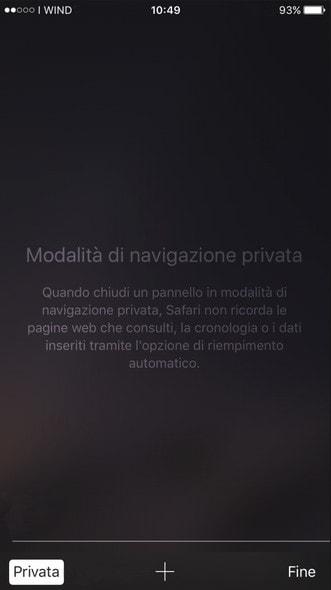 Come aprire una scheda navigazione privata con Safari - IMPRIMIS