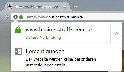 Anzeige Firefox HTTPS SSL Webseiten Verschlüsselung