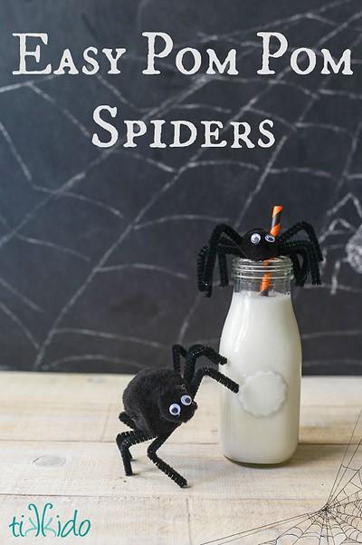 Easy Pom Pom Spider Craft Tutorial   TikkiDo.com