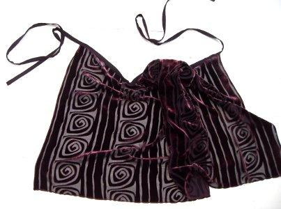 Sarong aus Seidensamt