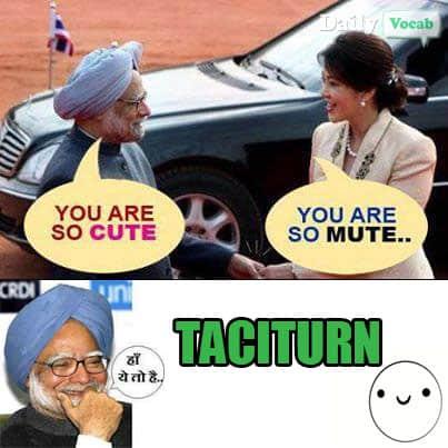 Taciturn Manmohan Singh Meme