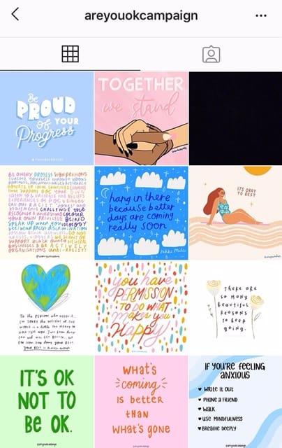 An instagram grid screenshot