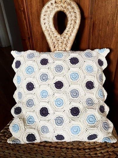 Crochet Spotty Dotty Cushion