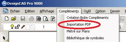 importation PDF DesignCAD