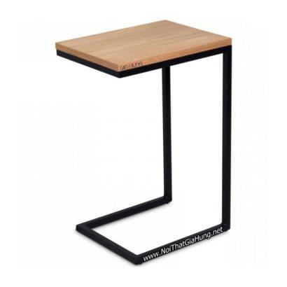 Bàn khung chân sắt mặt gỗ GHZ-396