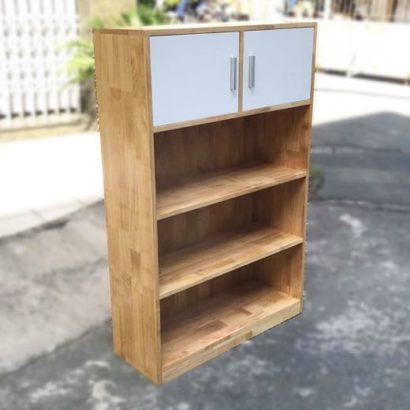 kệ sách/ kệ hồ sơ gỗ cao su có tủ GHZ-3612