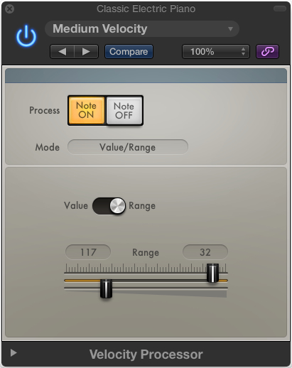 Depending on presets, the Velocity plug-in may show you the compressor-style UI or this.