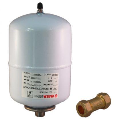 Ariston - Europrisma 2 Litre Water Heater Expansion Vessel & 15mm Check Valve Kit A