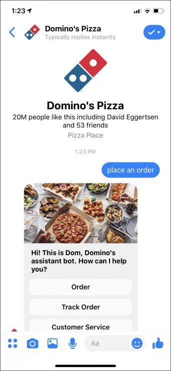 best chatbots for business - restaurant bot