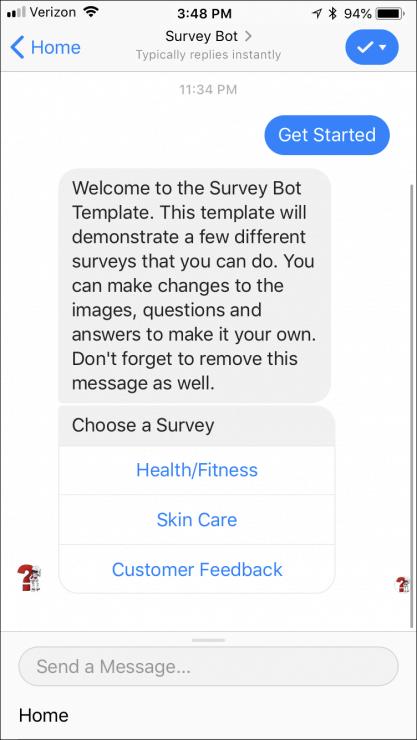best chatbots for business - survey bot