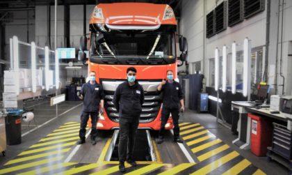 Újra legördült az első DAF tehergépkocsi