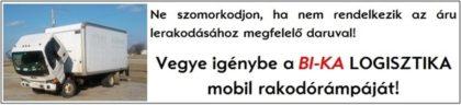 Vegye igénybe a BI-KA logisztika mobil rakodórámpáját!