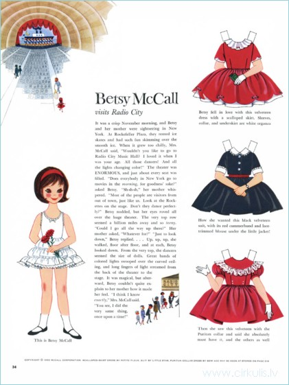 Betsy McCall papīra lelles