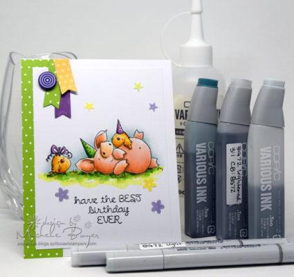 Copic Marker Birthday Card
