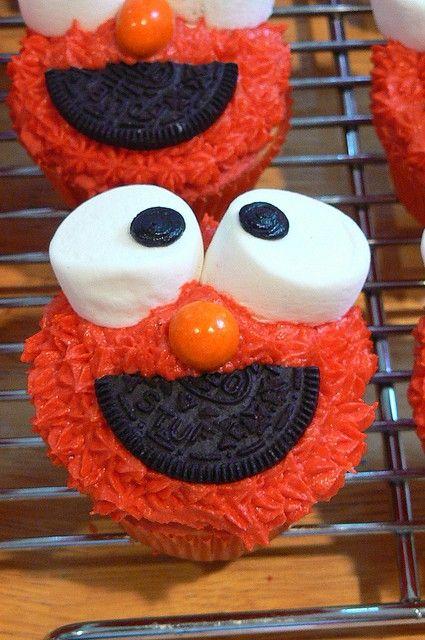 Elmo Cupcakes - Elmo Birthday Party Ideas