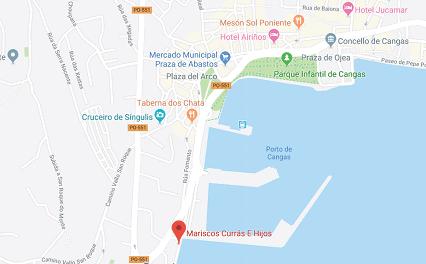 Ubicación para localizar nuestra depuradora y cetarea de marisco
