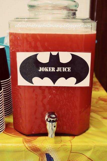 Joker Juice   Batman Party Ideas