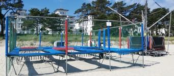 trampoline at binzer beach