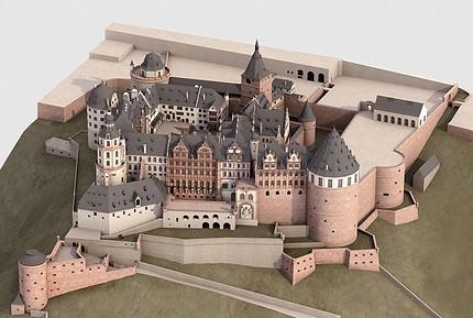 Der gewaltige Schlosskomplex nimmt drei Gigabyte Speicherplatz ein (Bild: KIT)