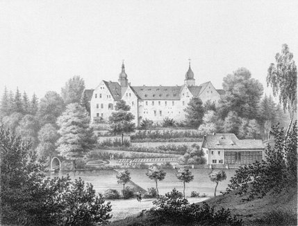 Schloss Pfaffroda im Jahr 1859 / Foto oben: 44Pinguine (Angela Monika Arnold, Berlin) / CC-BY-SA 3.0