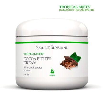питательный и успокаивающий крем с маслом какао Cocoa Butter Cream Tropical Mists