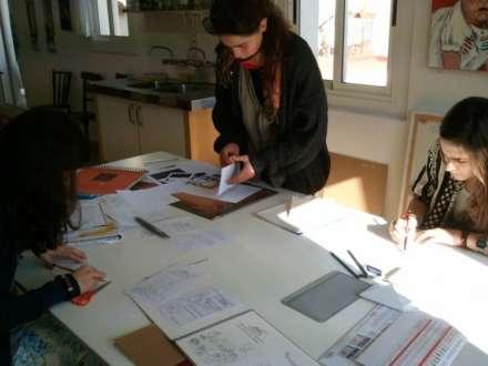 Preparation of originals for an illustrated story. Studio in BCN 4 Pintors