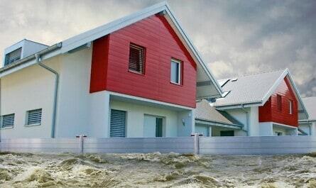 Hochwasserschutz schützt das Zuhause
