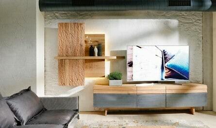 Naturholzmöbel mit Holz und Eisen