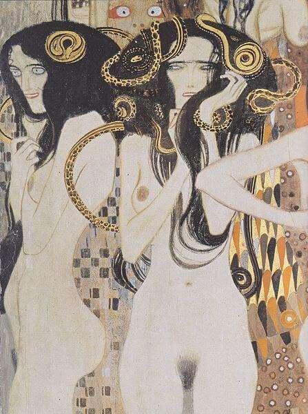 Gustav Klimt - Die Gorgonen (1902)