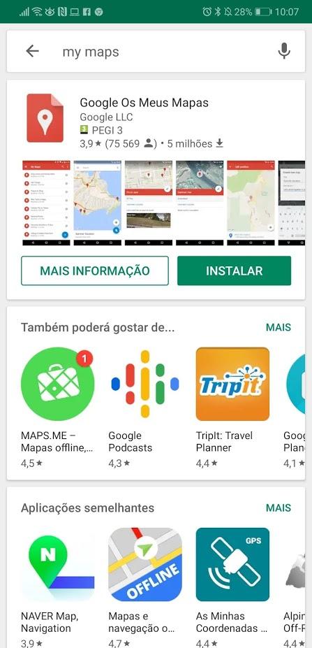 mapas personalizados no Google Maps
