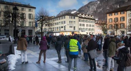 Klima-Demo in Glarus vom Februar