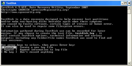 mejor programa de recuperación de discos duros - TESTDISK