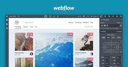Webflow herramienta de diseño web