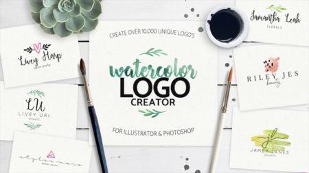 Watercolor Logo Maker - hacer logos originales