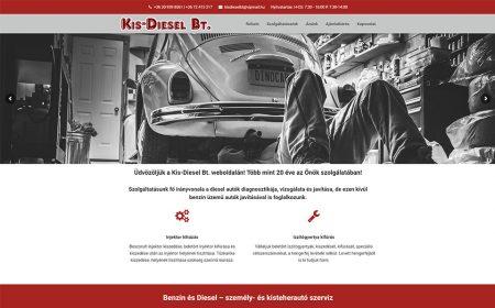 Weblap Készítés A Kis-Diesel Autószerviz Pécs Részére