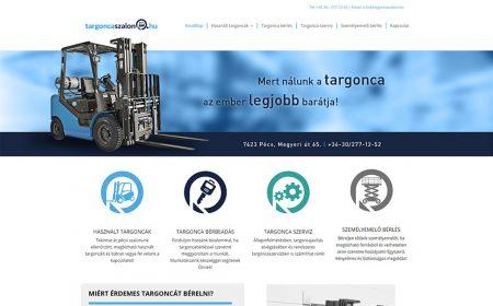 Weblapkészítés A Targoncaszalon Pécs Részére