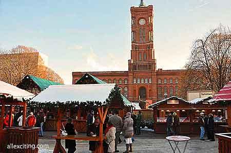 クリスマスマーケットベルリン市庁舎ラトハウス