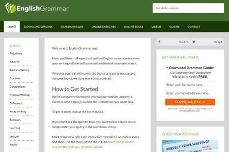 mejores sitio web para aprender gramatica en ingles - English Grammar