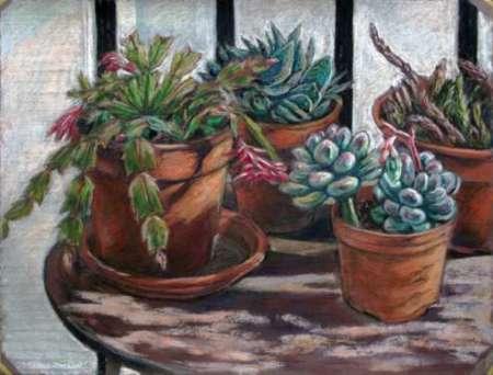 Pots. Pastel study. Painting workshop in Barcelona
