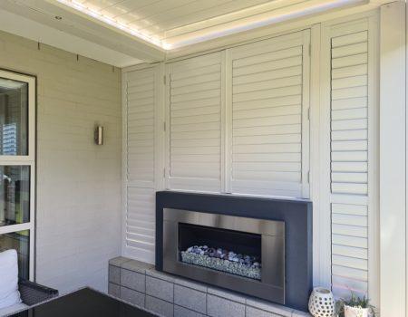 Aluminium outdoor shutters