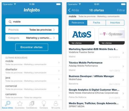 infojobs aplicaciones encontrar trabajo