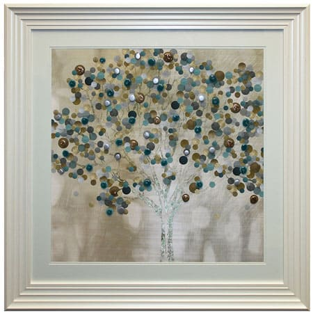 Teal Bubble Tree with liquid art from Complete Colour